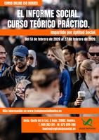 """CURSO ONLINE: """"EL INFORME SOCIAL. CURSO TEÓRICO PRÁCTICO"""" (50 HORAS)."""