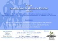 Curso: Introducción a la Mediación Familiar