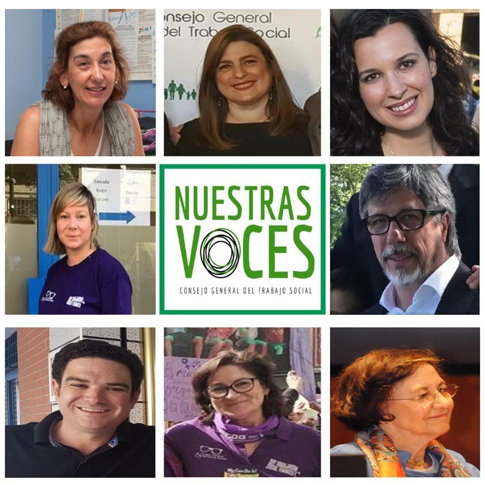 """EL CONSEJO GENERAL DE TRABAJO SOCIAL HA CREADO """"NUESTRAS VOCES"""", GRUPO DE EXPERTAS Y EXPERTOS EN DIFERENTES ÁMBITOS DE INTERVENCIÓN DEL TRABAJO SOCIAL"""