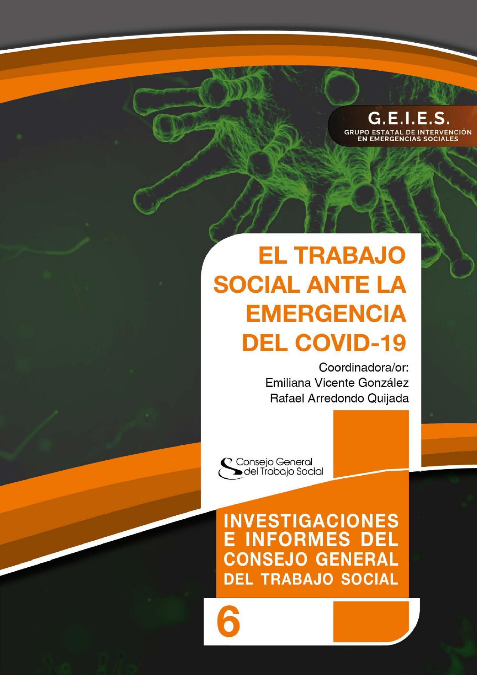 """EL CONSEJO GENERAL PUBLICA EN ABIERTO """"EL TRABAJO SOCIAL ANTE LA EMERGENCIA DEL COVID-19"""""""