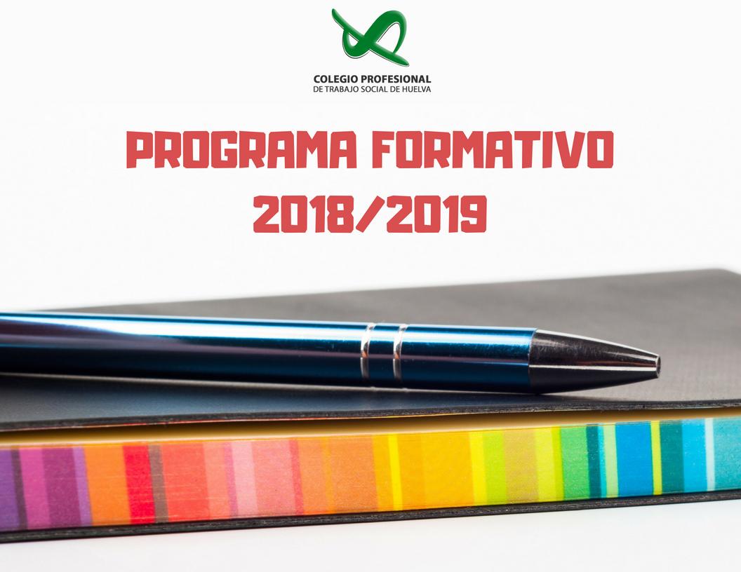PROGRAMA DE ACCIONES FORMATIVAS 2018/2019