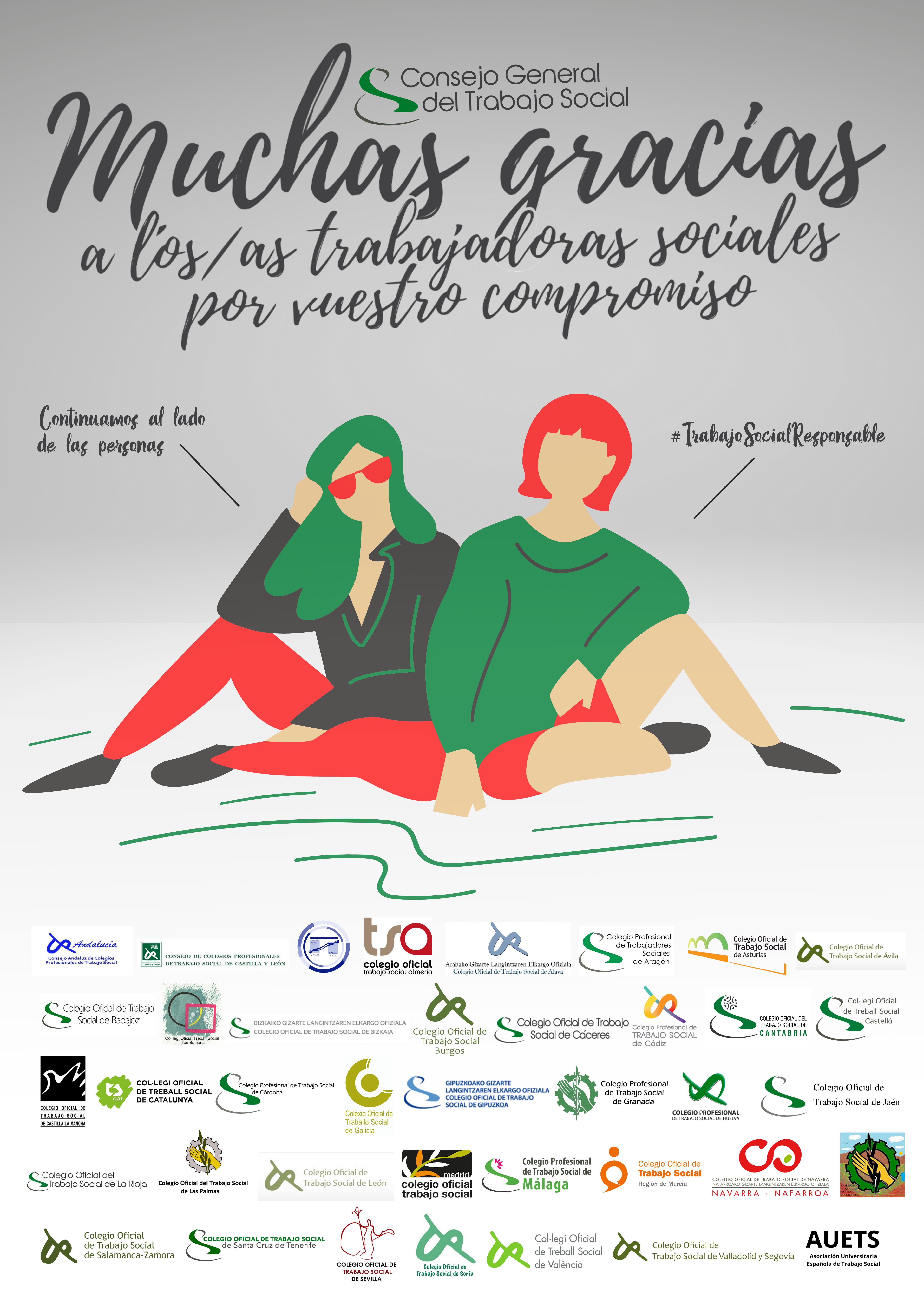 #TRABAJOSOCIALRESPONSABLE - RECONOCIMIENTO PÚBLICO A LAS TRABAJADORAS SOCIALES Y A LOS TRABAJADORES SOCIALES DESDE LA ESTRUCTURA COLEGIAL