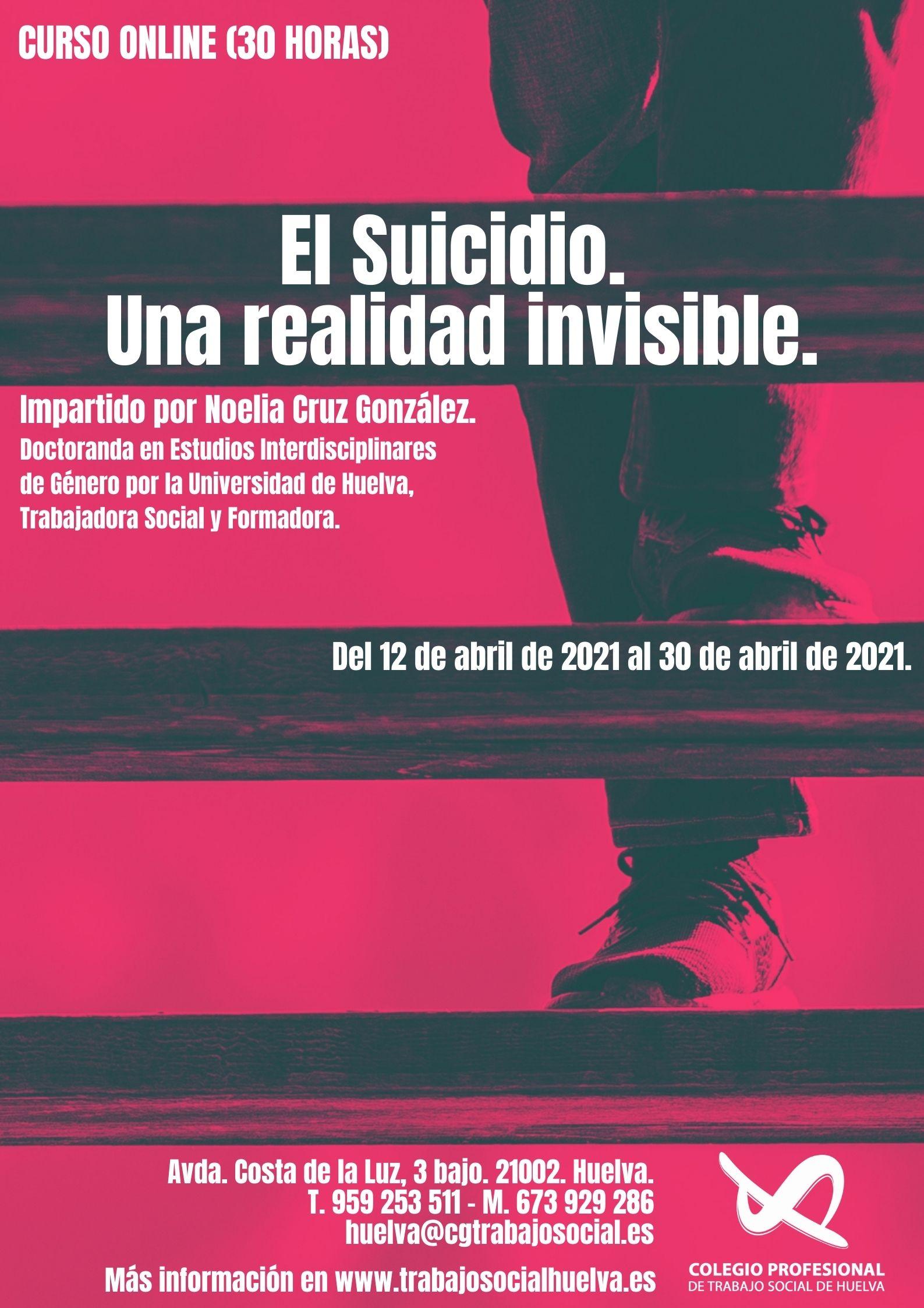 """OFERTA FORMATIVA: """"EL SUICIDO. UNA REALIDAD INVISIBLE"""""""