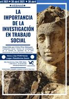 """WEBINAR 30 DE ABRIL: """"LA IMPORTANCIA DE LA INVESTIGACIÓN EN TRABAJO SOCIAL"""""""
