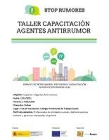 """WEBINAR: """"TALLER CAPACITACIÓN AGENTES ANTIRRUMOR"""""""